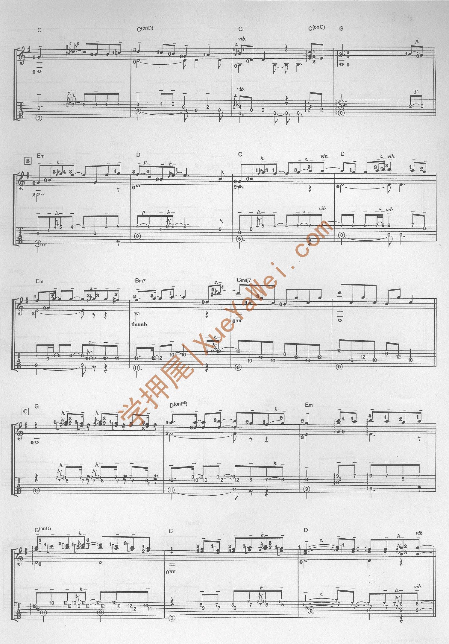 小提琴first love曲谱